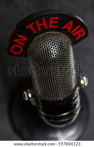 old microphone background