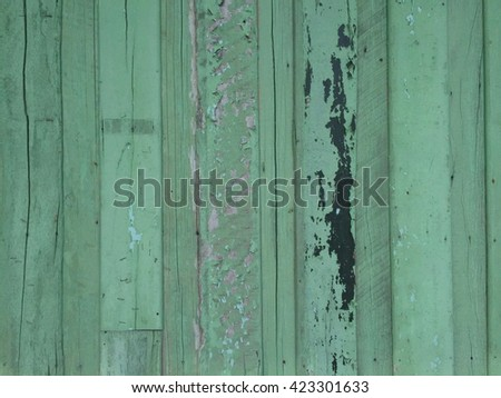 old painted green wall