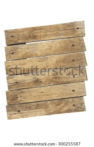 Old planks isolated on white