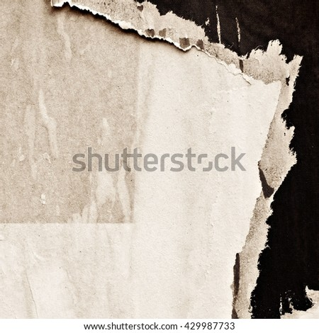 Old posters / Ripped paper / Grunge textures and backgrounds