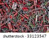 old radio component chaotically located background - stock photo