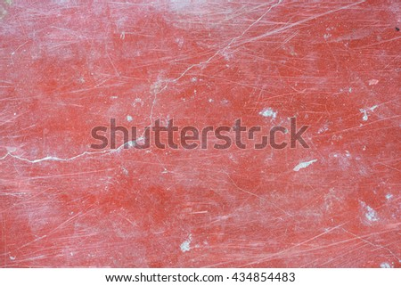 Old red concrete floor background texture