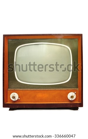 Old retroTv isolated on white background