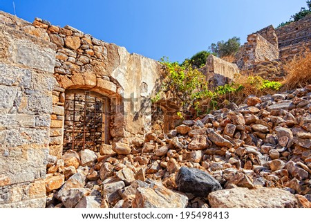 Old Ruins on the Crete, Greece.