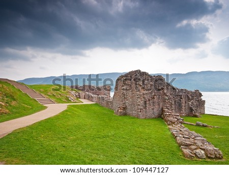 Old Scottish castle at Loch Ness