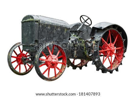 old Soviet tractor from 1931 year