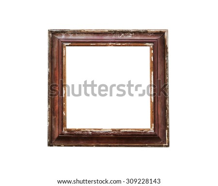 old square wooden frame