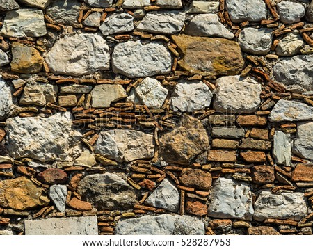 old stone wall in italy