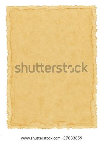 Old textured paper with a water-stained border.