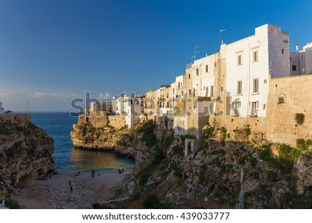 Old town of Polignano a Mare, Apulia region, South of Italy