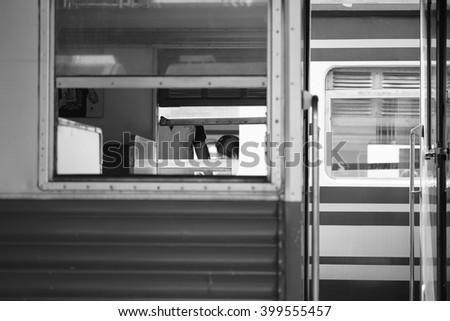 Shutter Door Door Fire Cabinet Letterbox Stock Photo