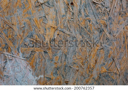old weathered grunge oriented strand osb board background