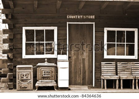Old West Style Country Store