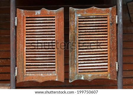 Old Western Swinging Saloon Doors Stock Photo 123191806