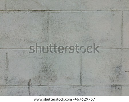 Old white paint concrete block wall texture background
