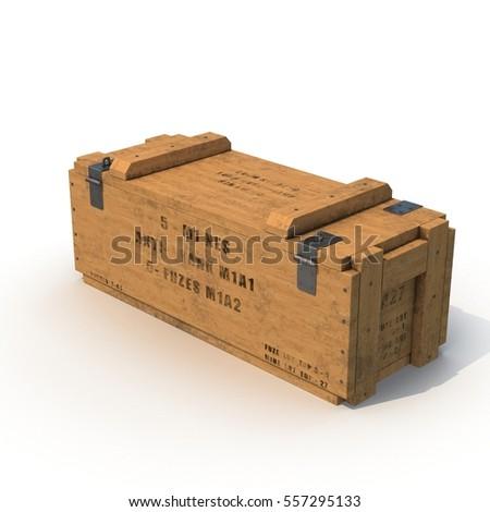 Old wooden ammo case on white. 3D illustration  sc 1 st  Shutterstock & Old Wooden Ammo Case On White Stock Illustration 557295178 ... Aboutintivar.Com
