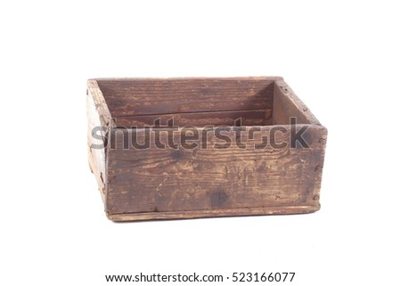Alte Holzkisten wooden crate vintage retro design alte stock photo 523166056