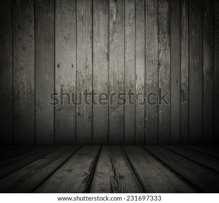 old wooden interior, retro background