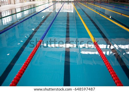 Olympic Swimming Pool Lanes surface outdoor olympic swimming pool stock photo 378001228