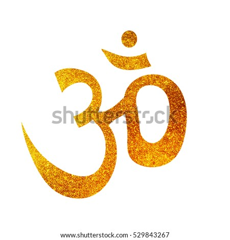 Om sign icon isolated on white background