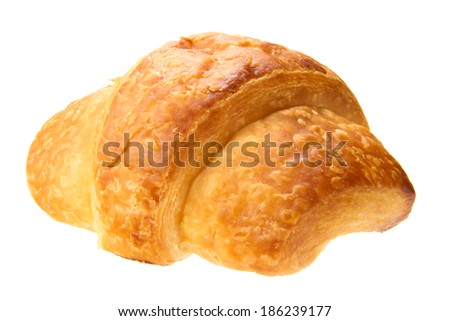 one loaf of delicious bread isolated on the white background