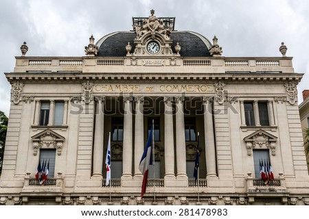 Lille france june 12 2016 architecture stock photo for Chambre de commerce nice