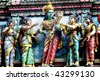 one of the many amazingly carved hindu temples in little india and Chinatown singapore - stock photo