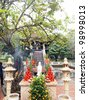 One Pillar Pagoda - Hanoi, Vietnam - stock photo