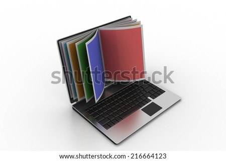 Online reading concept
