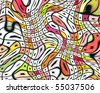 Op Art Swirling Squares 04 - stock vector