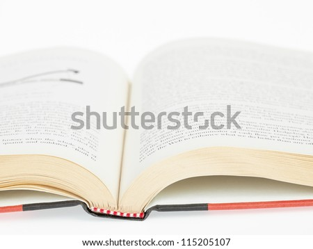 Open book closeup