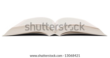 Open book set against a white background.