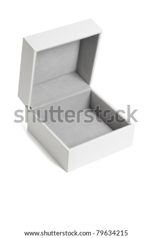 Open empty white gift box on isolated background