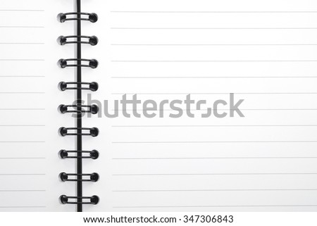 Opened notebook on blank paper