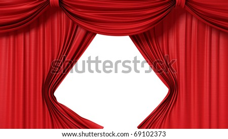 opening red curtain