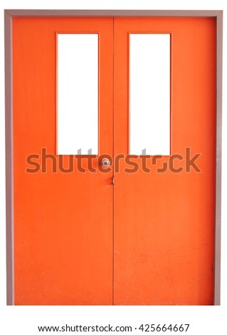 Orange Door and dirty