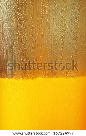 Orange juice in dispenser