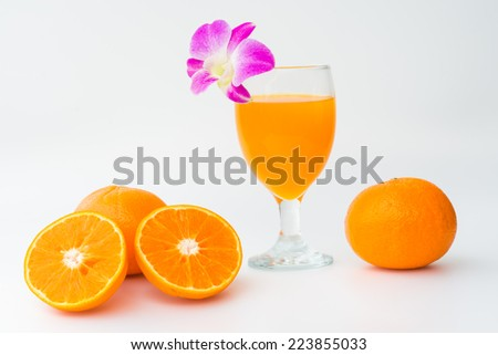 Orange Juice on the white background