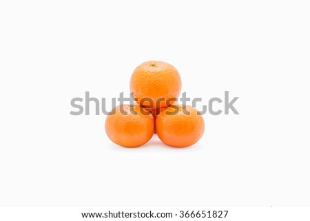Orange on a white background Clipping Path .
