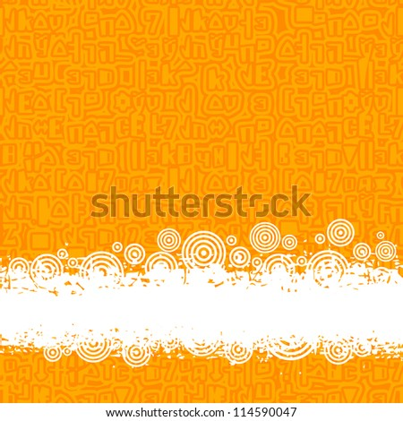 orange pattern conundrum with place for text (grunge style)
