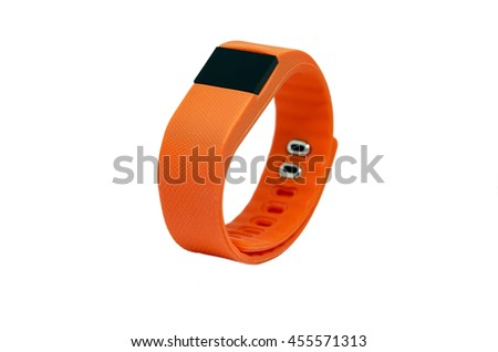 Orange pedometer