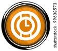 Orange time icon - stock vector