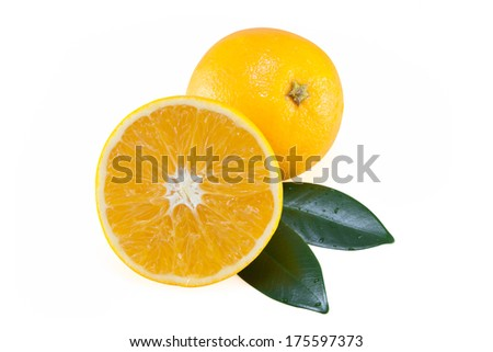 Oranges and Leafs ,  file includes a excellent clipping path