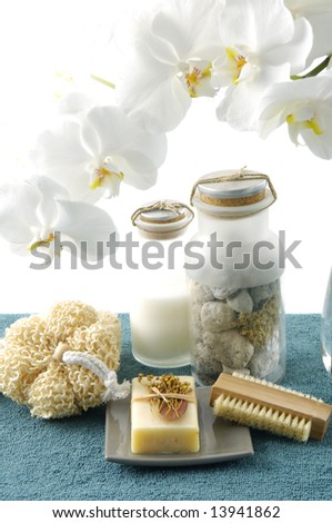 orchid flower and spa item