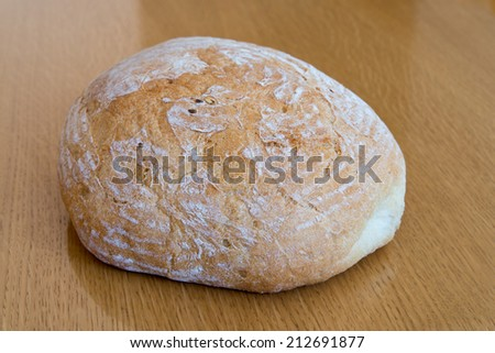 Organic bread on table