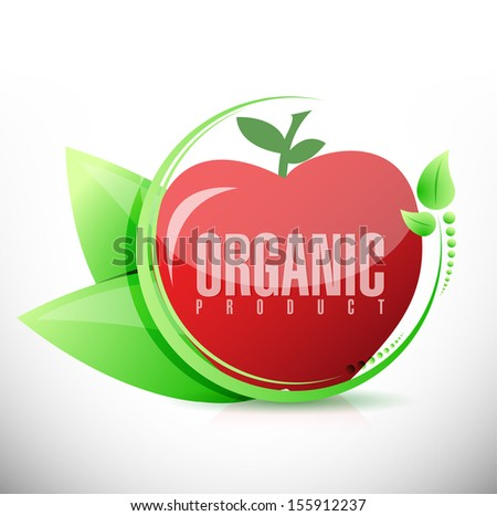 organic product apple illustration design over a white background