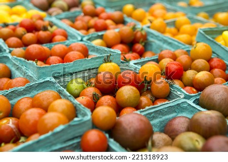 Organic tomatoes from a local market