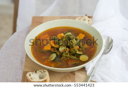 organic vegetables soup