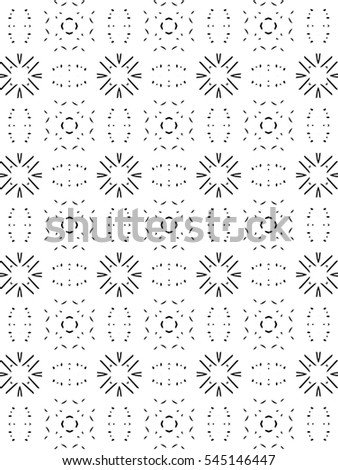 Ornament with elements of black and white colors. w