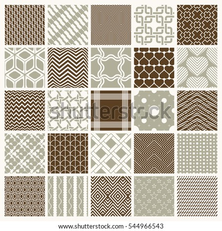 ornamental seamless backdrops set, geometric patterns collection. Ornate textures made in modern simple style.